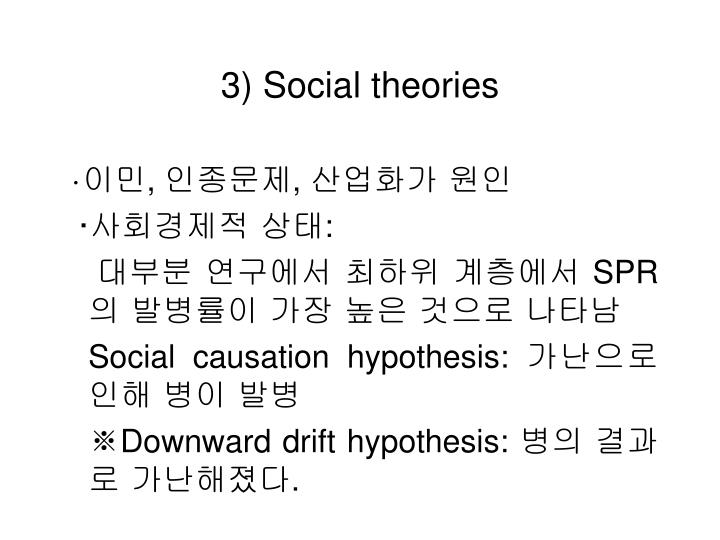 3) Social theories