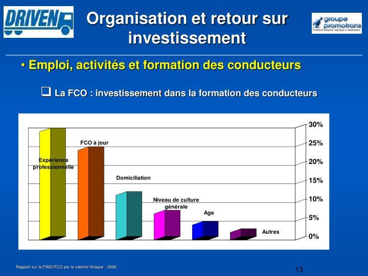 Organisation et retour sur investissement