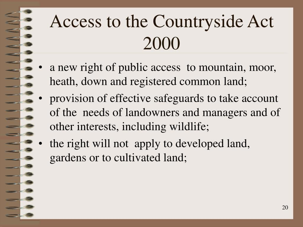 Access to the Countryside