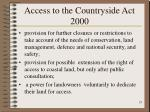 access to the countryside act 200023