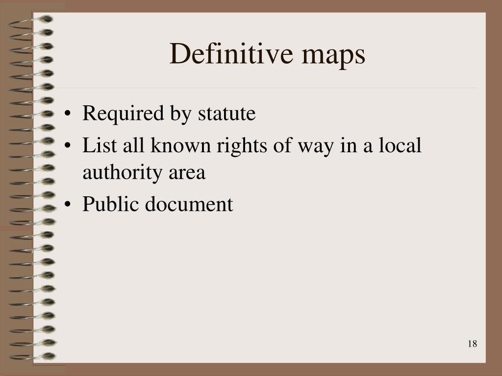 Definitive maps