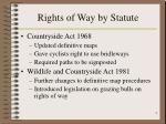 rights of way by statute7