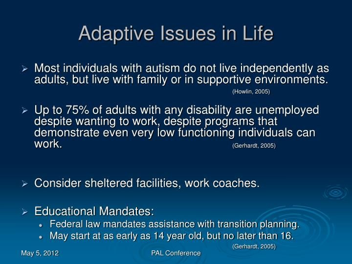 Adaptive Issues in Life