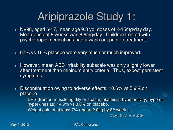 Aripiprazole Study 1:
