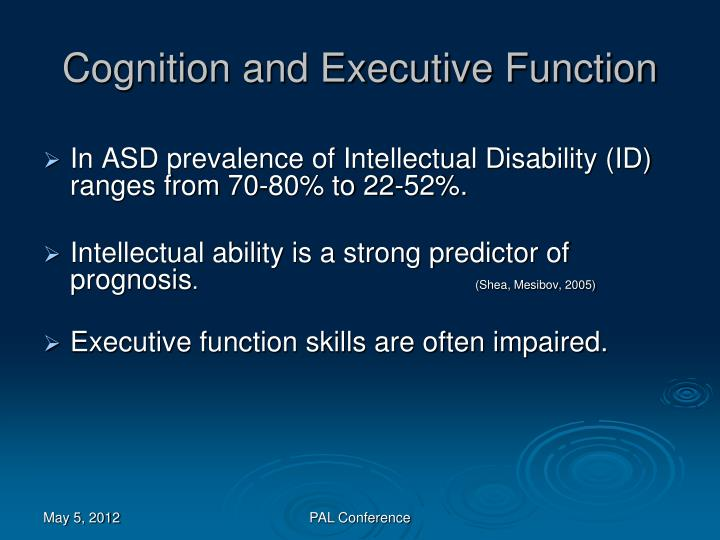 Cognition and Executive Function