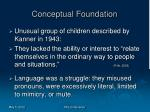 conceptual foundation
