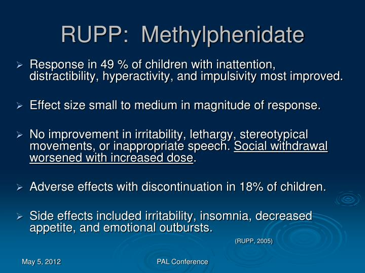 RUPP:  Methylphenidate
