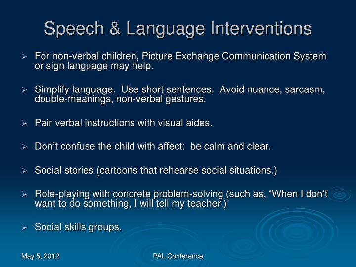 Speech & Language Interventions