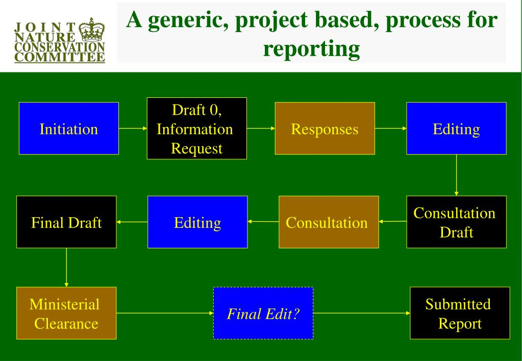 A generic, project based, process for reporting