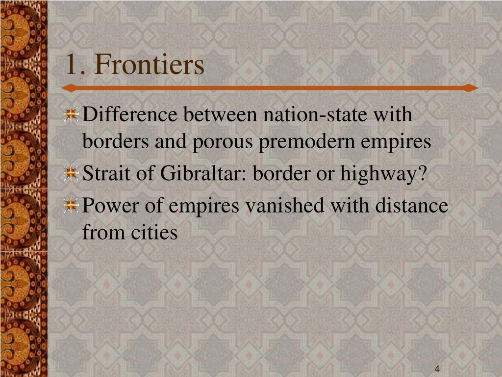 1. Frontiers