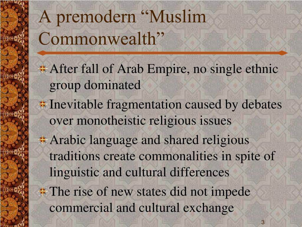 "A premodern ""Muslim Commonwealth"""