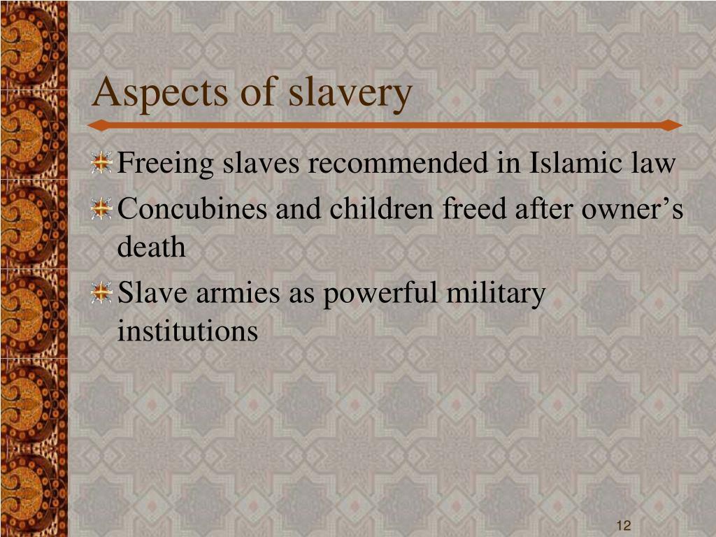 Aspects of slavery