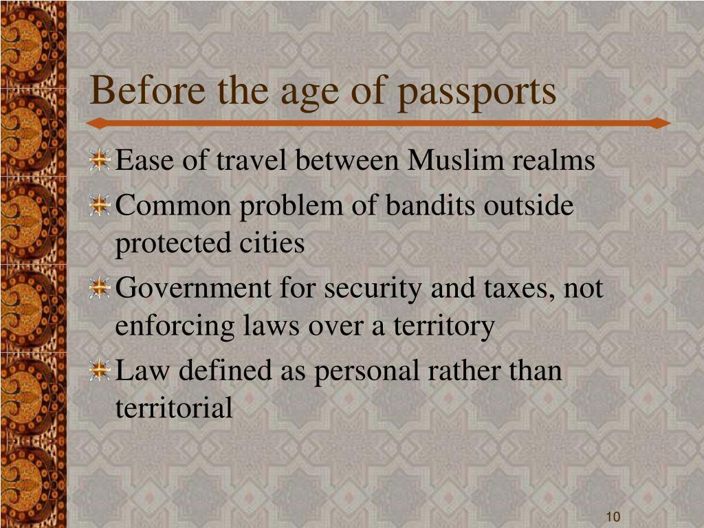 Before the age of passports
