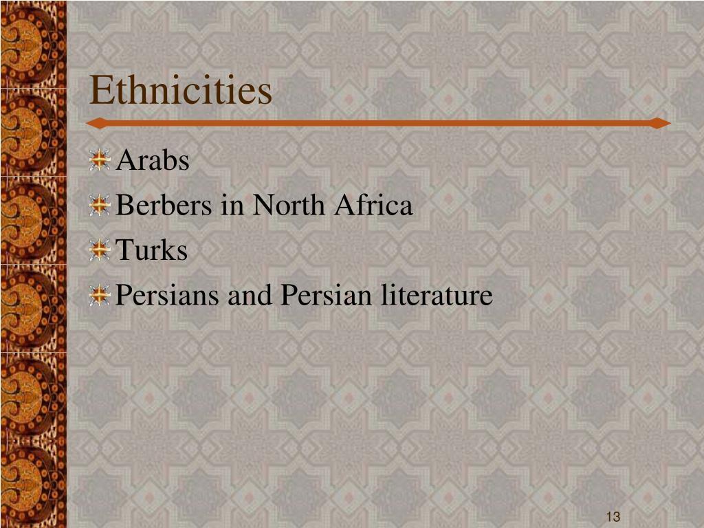 Ethnicities