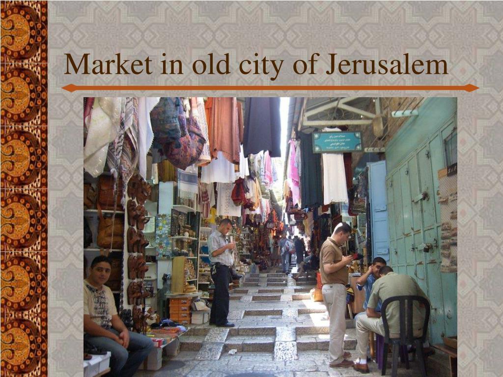 Market in old city of Jerusalem