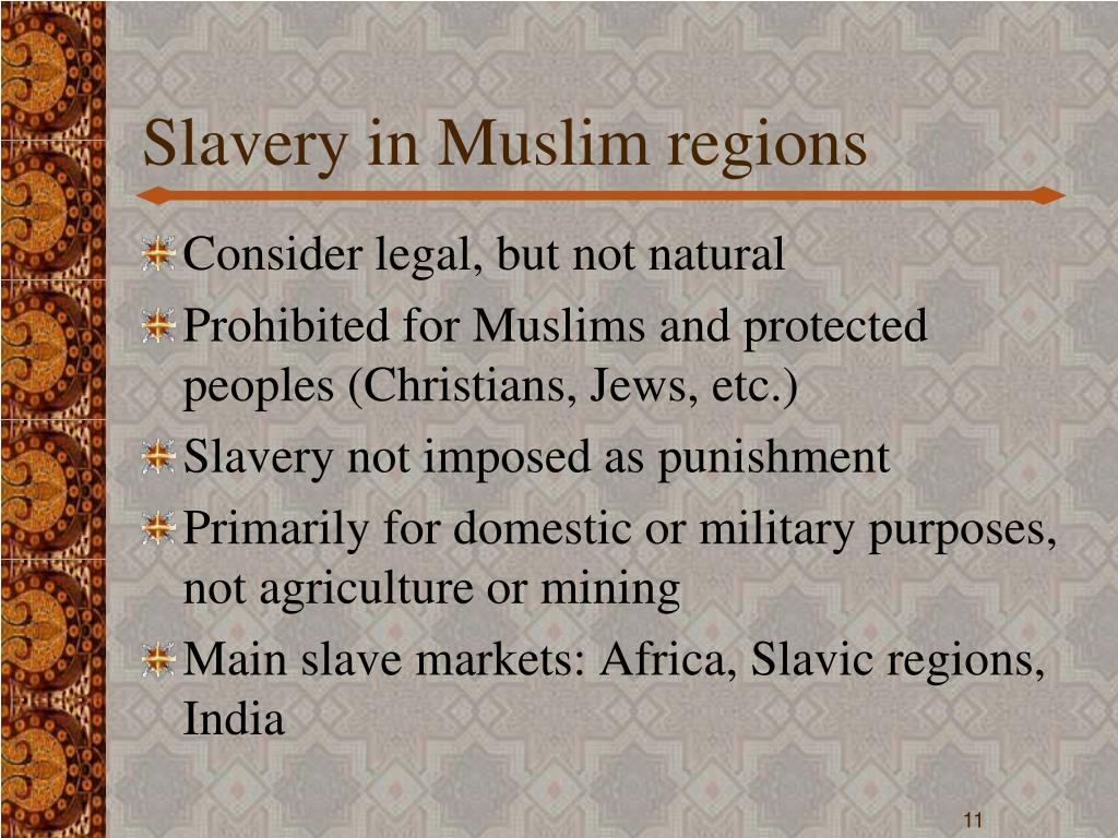Slavery in Muslim regions