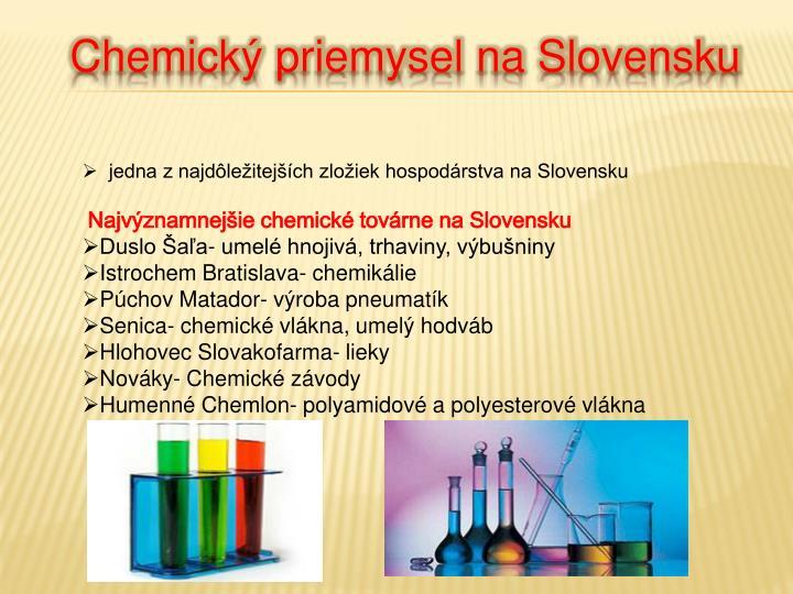 Chemický priemysel na Slovensku