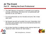 at the event part iv making the event professional1