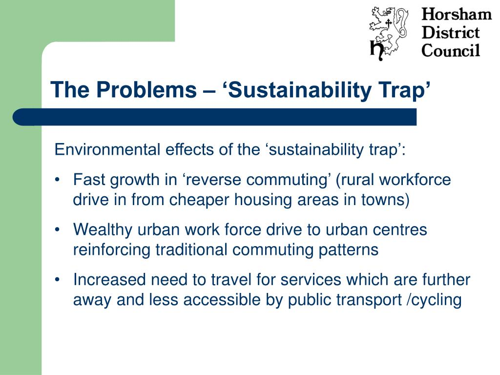 The Problems – 'Sustainability Trap'