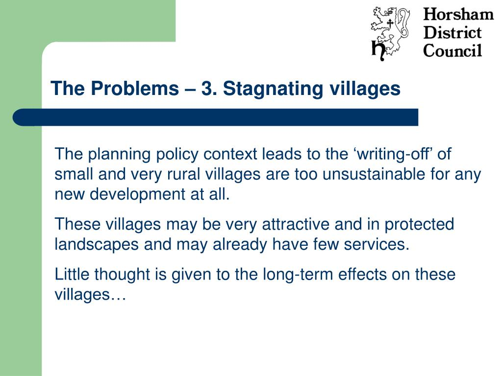 The Problems – 3. Stagnating villages