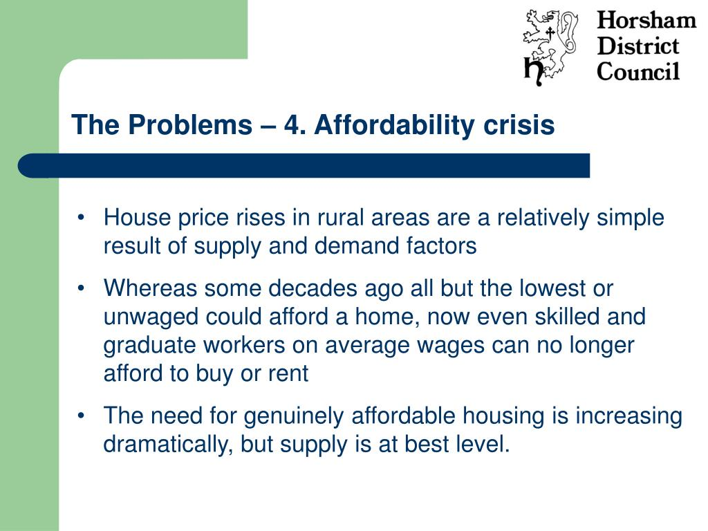 The Problems – 4. Affordability crisis