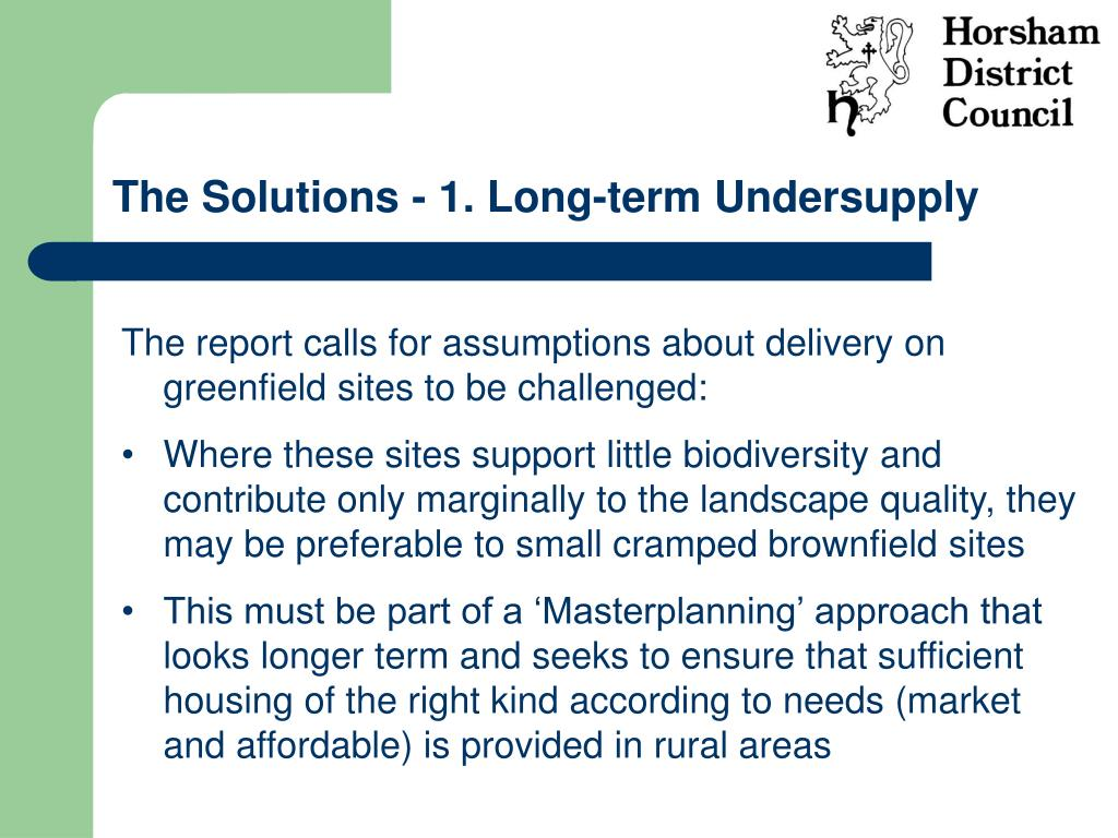 The Solutions - 1. Long-term Undersupply