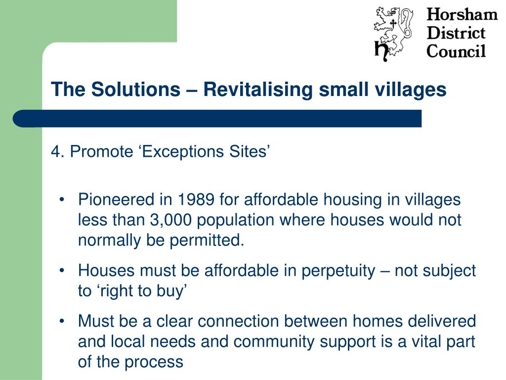The Solutions – Revitalising small villages