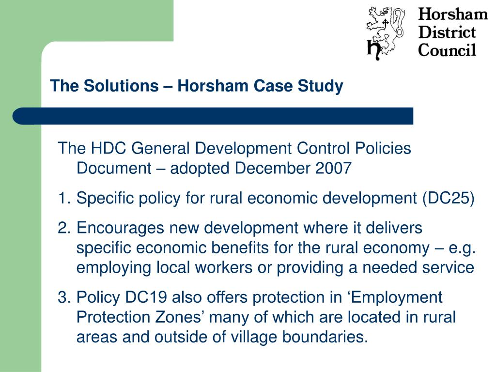 The Solutions – Horsham Case Study