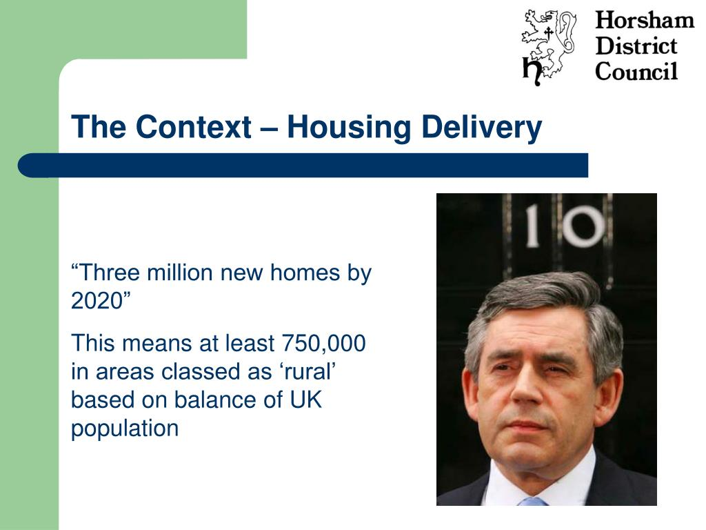 The Context – Housing Delivery