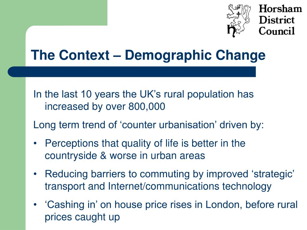 The Context – Demographic Change