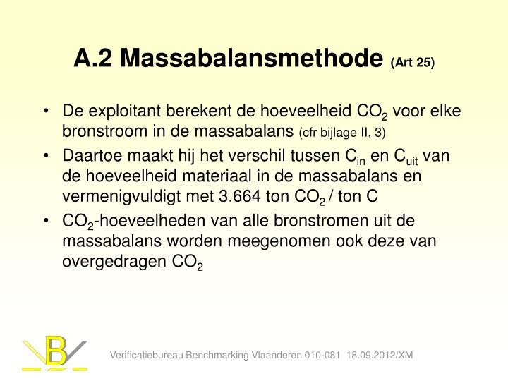 A.2 Massabalansmethode
