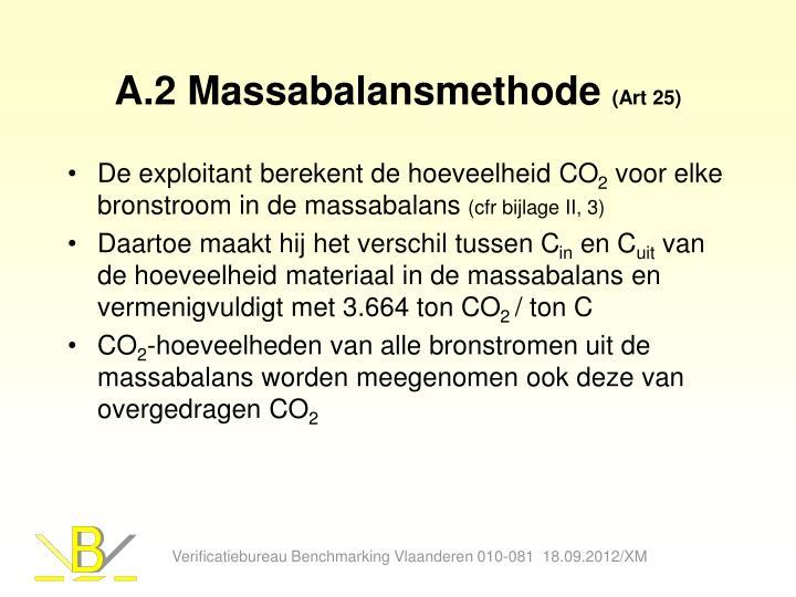 A.2 Massabalansmethode