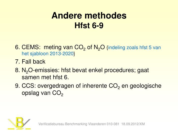 Andere methodes