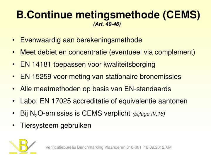 B.Continue metingsmethode (CEMS)