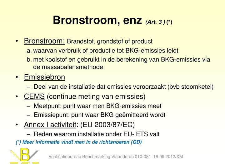 Bronstroom, enz