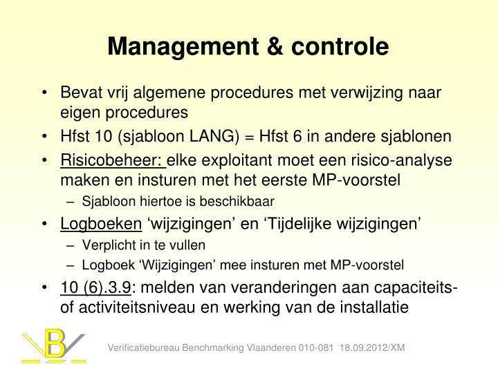 Management & controle