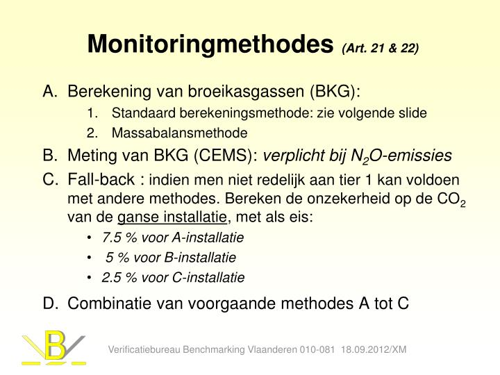 Monitoringmethodes