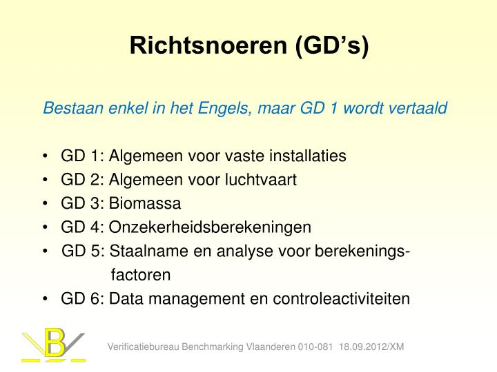 Richtsnoeren (GD's)
