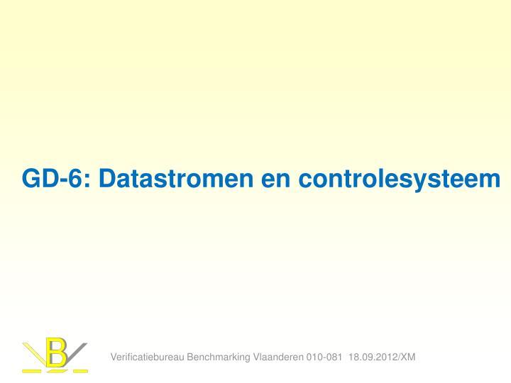 GD-6: Datastromen en controlesysteem