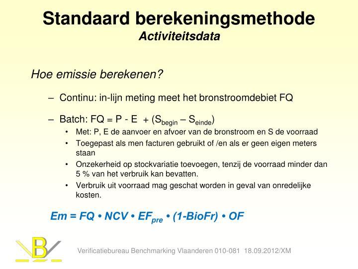 Standaard berekeningsmethode