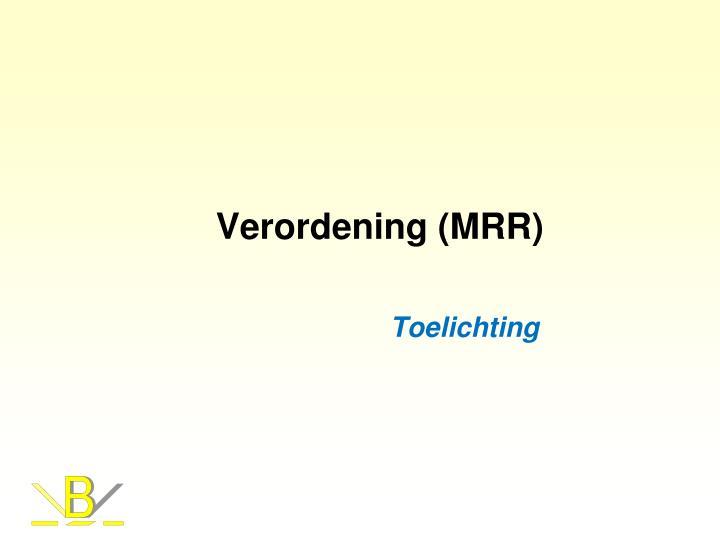 Verordening (MRR)