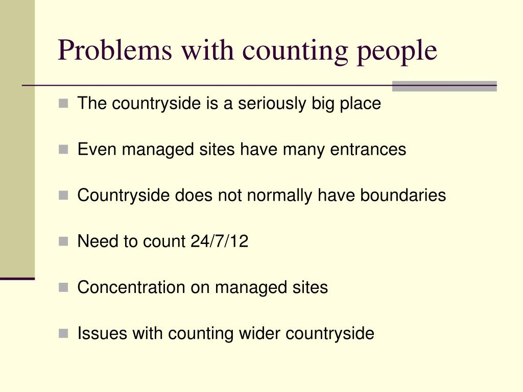 Problems with counting people
