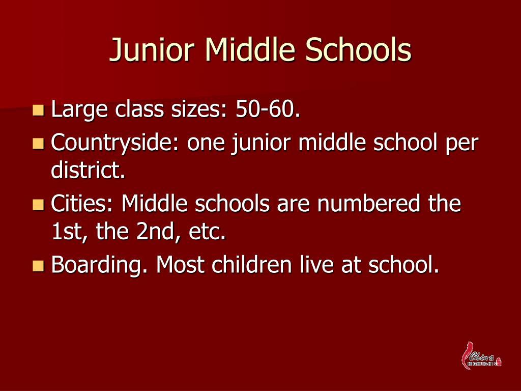 Junior Middle Schools