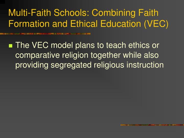 Multi-Faith Schools: Combining Faith Formation and Ethical Education (VEC)