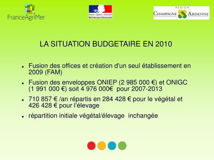 Fusion des offices et création d'un seul établissement en 2009 (FAM)