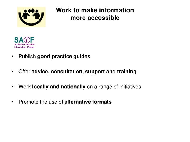 Work to make information
