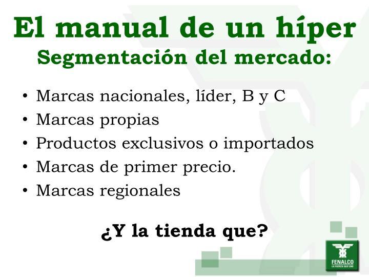 El manual de un híper