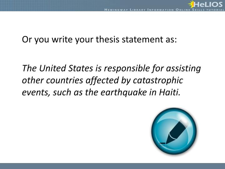 Developing a thesis for research