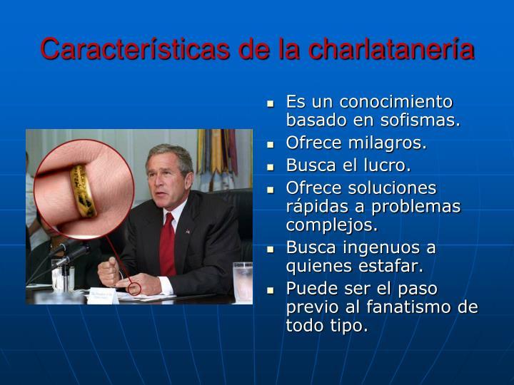 Características de la charlatanería