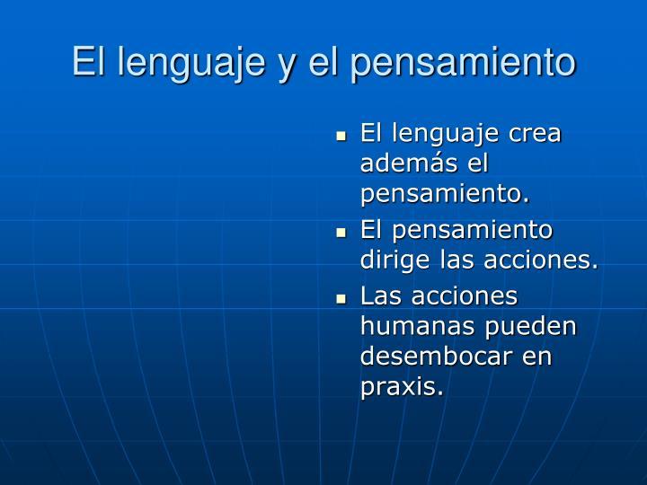 El lenguaje y el pensamiento